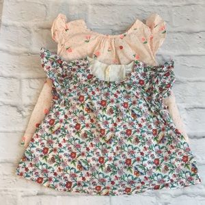 Baby Gap Girls summer Tops Size 18-24m